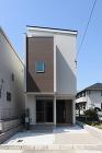 変形の狭小敷地を上手に利用 Dhシリーズ3F建ては健康ウェルネス住宅 画像