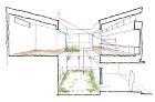 二層中庭の家