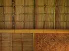 茶室の天井。真行草の三つ様式を備える。