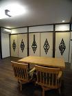 モダン和室 襖(ふすま)・障子の施工実例... チベット梵字柄の戸ふすま