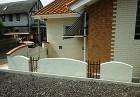南欧風エクステリア・塗り壁に合う、オシャレな鋳物フェンス(須賀川市-M様邸)
