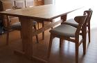 2011年製作のオーダー家具|家具工房c... チェリー無垢のダイニングテーブル