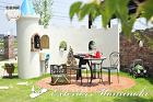 お庭の施工例「塗り壁」 | 岩手のエクス... 塗り壁施工例 岩手県北上市