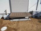 千葉市緑区フジガーデン|枕木階段施工例 枕木階段
