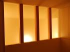 小平の家|デザイン住宅作品集|DEN設計... ガラスが映し出すやわらかい明かり|小平の...