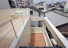 京都市U邸ルーフバルコニーとテラスの関係