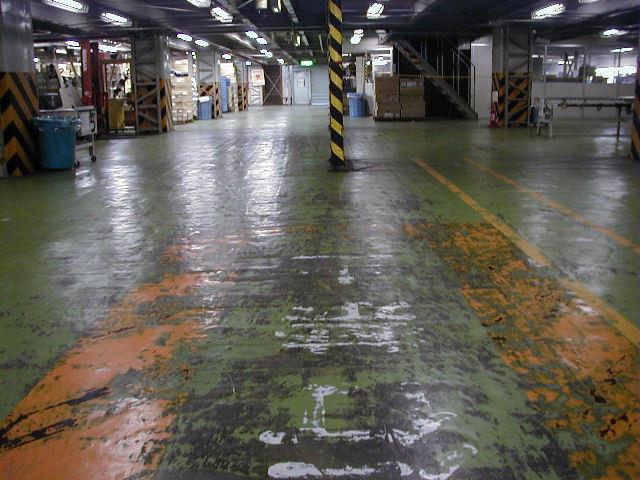 物流センター でこぼこ床 工事