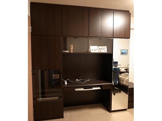 O様邸主寝室|多目的収納|収納家具、デザ...