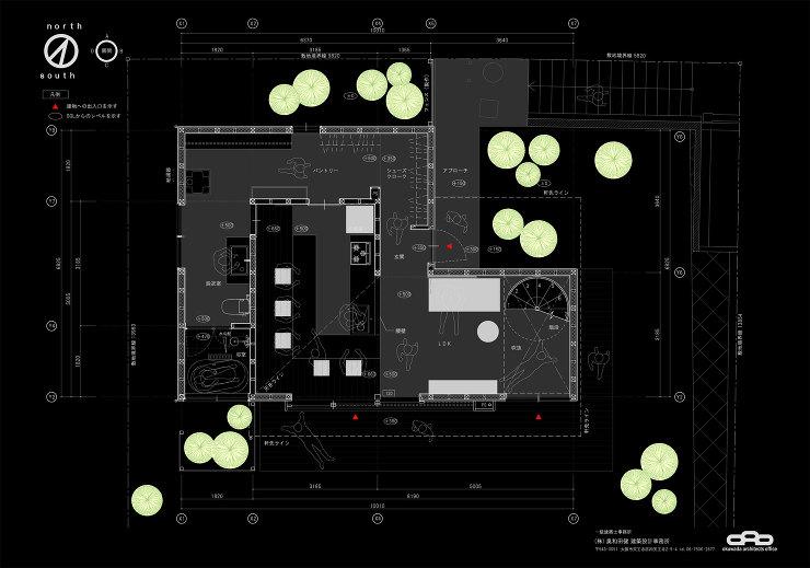 川西市の家 プラン|奥和田健建築設計事務所