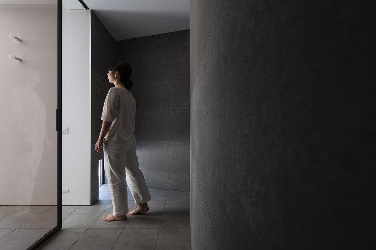 玄関 千里山西の家 北摂のデザイン住宅 設計 建築家 奥和田健