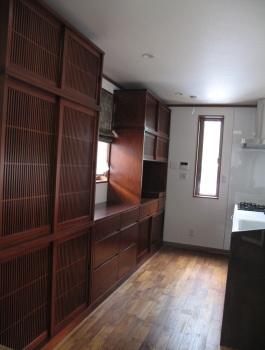 造り付の食器棚