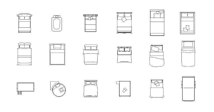 Vol.14 ベッドCADデータ | CADデータフリーダウンロード ...