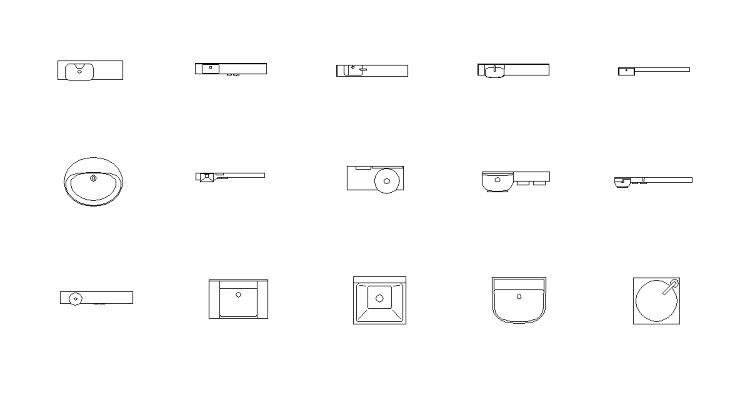 Vol21 トイレ洗面 CADデータ | CADデータフリーダウンロー...