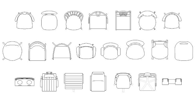 Vol33 チェア CADデータ | CADデータフリーダウンロード ...