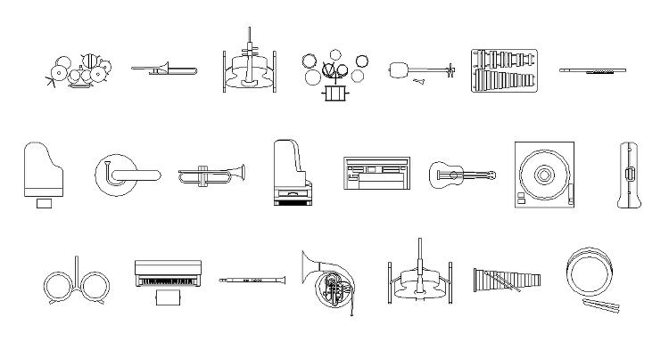 Vol42 楽器 CADデータ | CADデータフリーダウンロード |...