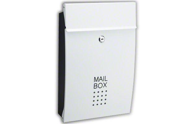 メールボックス鍵付き SHPB05A-WB (ホワイト) ‐ / 建築...