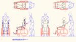 人物モデル化 介助人有り車椅子用 DXF | CAD-DATA.com