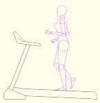 ランニングマシーン 人物女性 側面のみ JWW | CAD-DATA....