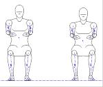 人物モデル化 (成人男性 正面着座) JWW | CAD-DATA.c...