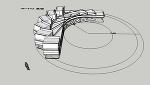 15tトラック(後2軸)軌跡図   CAD-DATA.com