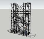 枠組足場階段枠W600(簡易版)修正 | CAD-DATA.com