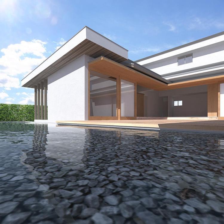 大胆な減築で、旧家を中庭のある家へと再生! 堺の家