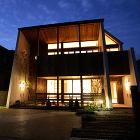 住宅作品「気の流れる家」夜景