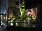 シティーホテルの庭