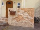 常滑市A邸モルタル造形門塀
