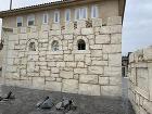 知多市城壁風モルタル造形モニュメント塀
