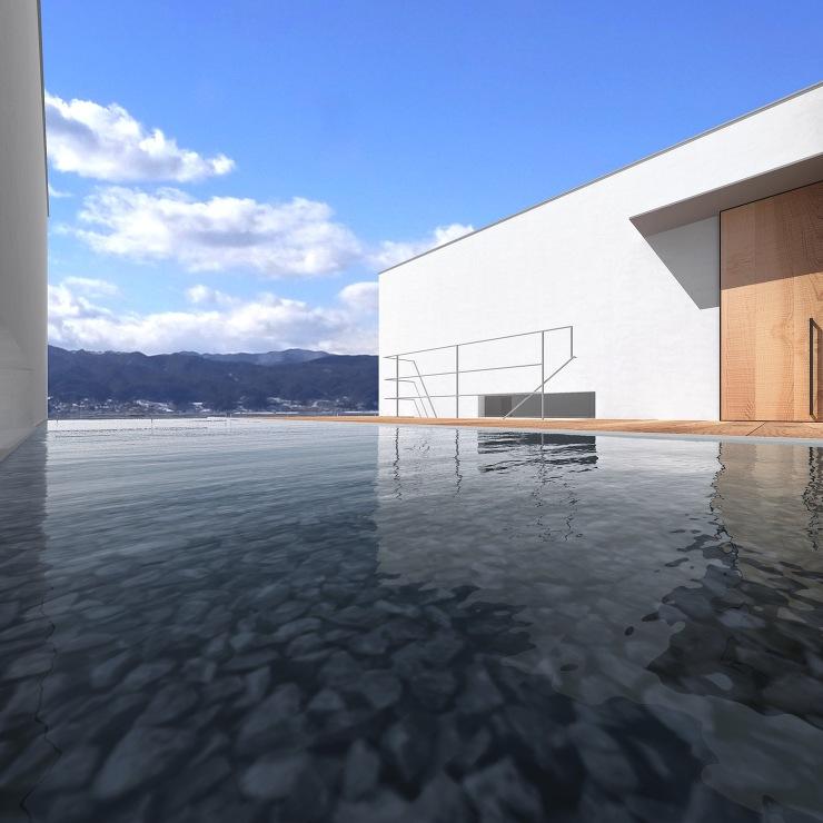 諏訪湖畔の家