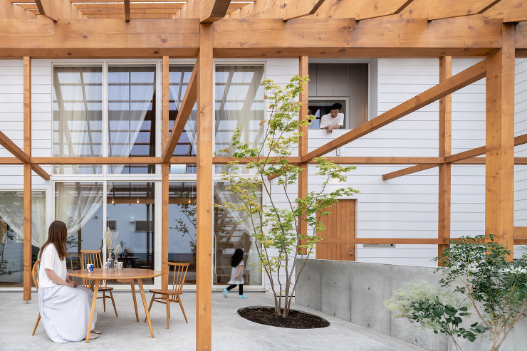「格子の家」外観写真