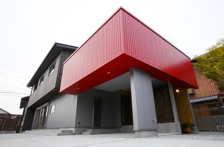 4色の家-外観