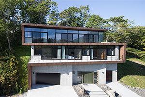 住宅作品:Shirofukuroの外観