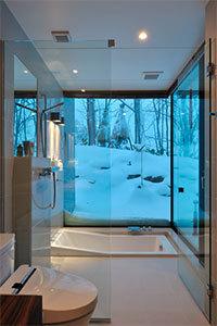 住宅作品:Glasshouseのバスルーム
